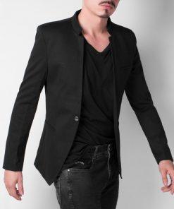 blazer-casual-cuello-militar-negro-hombre-moda-axspen-oxap-7002-002
